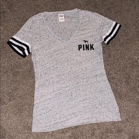 PINK Victoria's Secret Tops - Victoria's Secret PINK V Neck Boyfriend Jersey